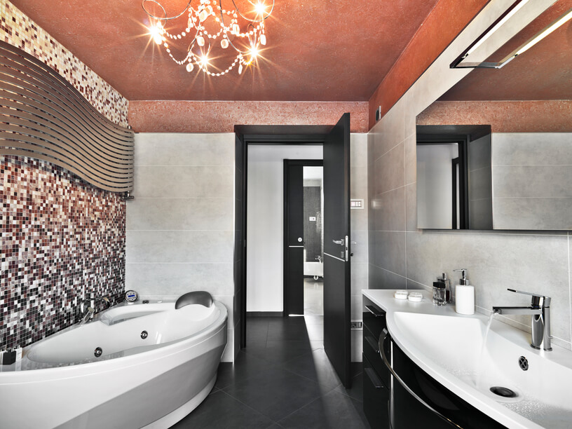 32 Bathrooms With Dark Floors