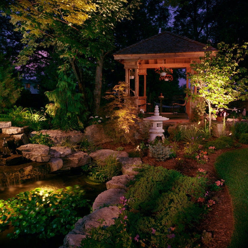 This garden is breath taking. Each nook is full of unique stones, and a Japanese lantern sculpture stands tall in the center of the wild plants.