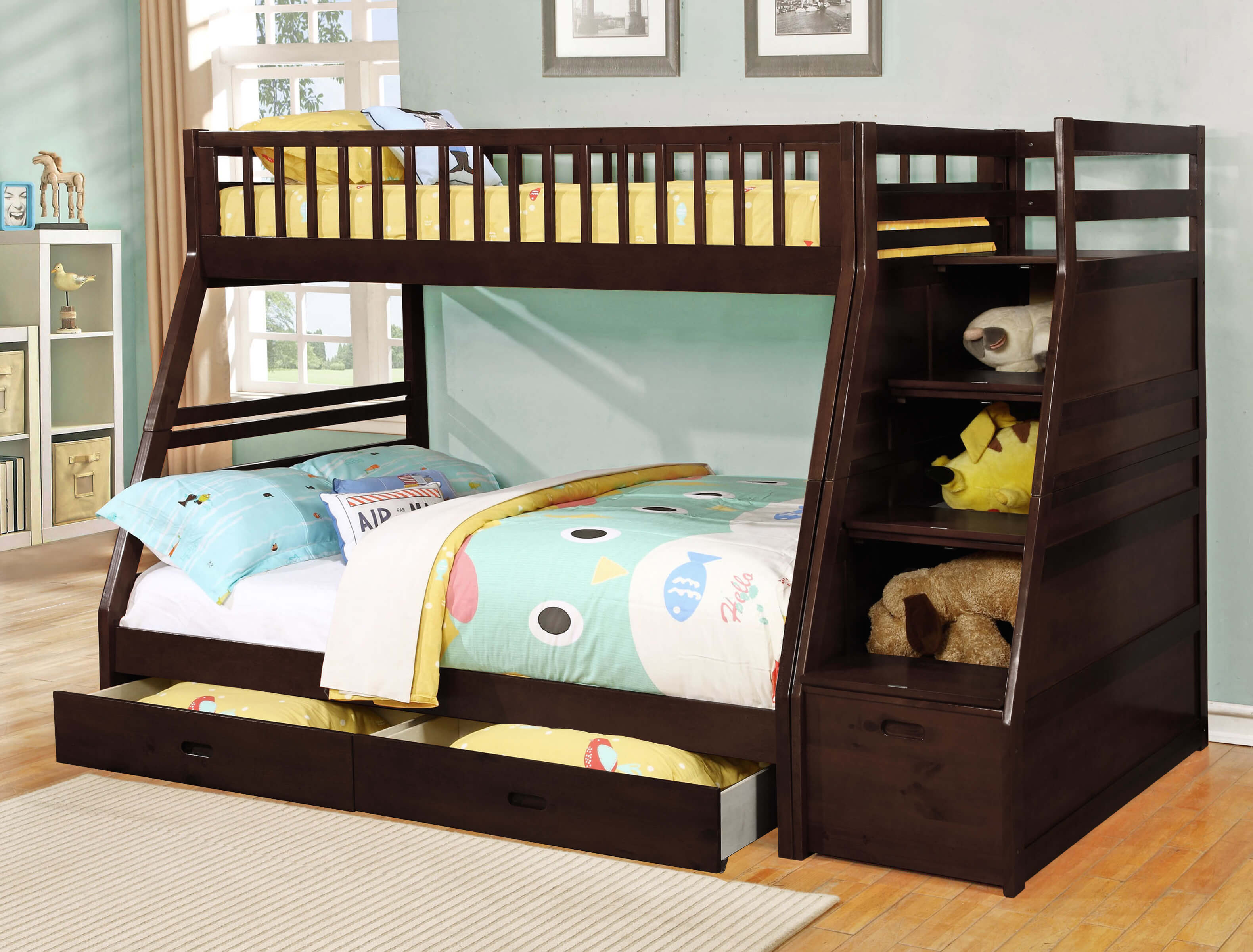 Picture of: 24 Designs Of Bunk Beds With Steps Kids Love These