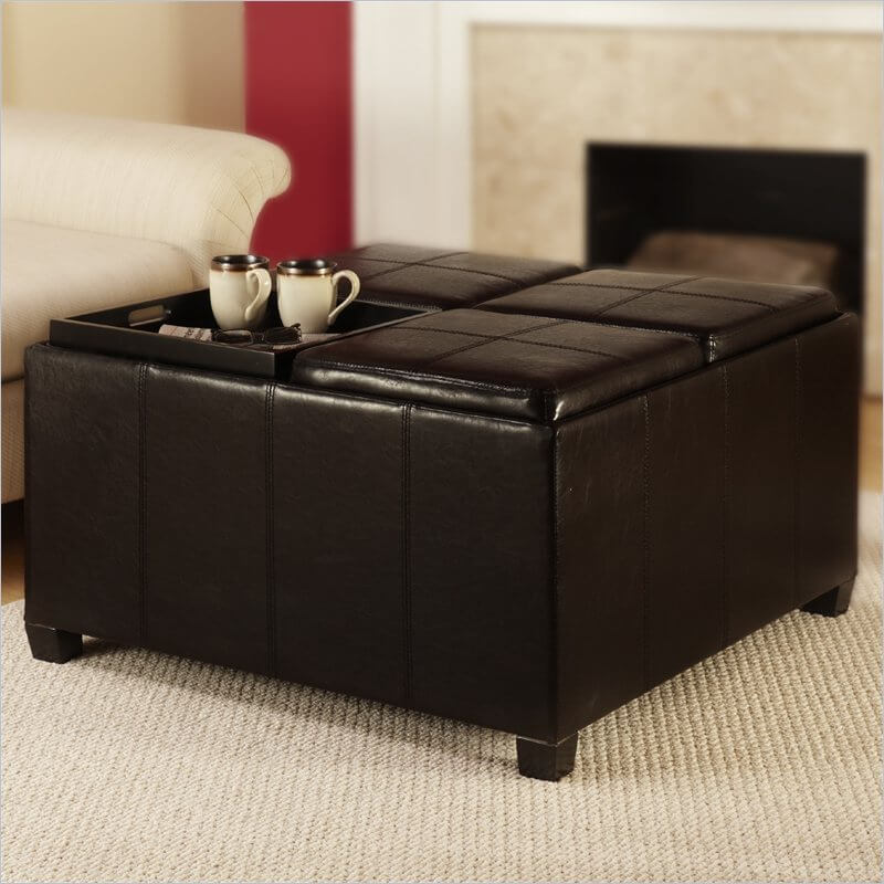 This larger model has four individual compartments, each with a tray top. Only flip the ones you need!