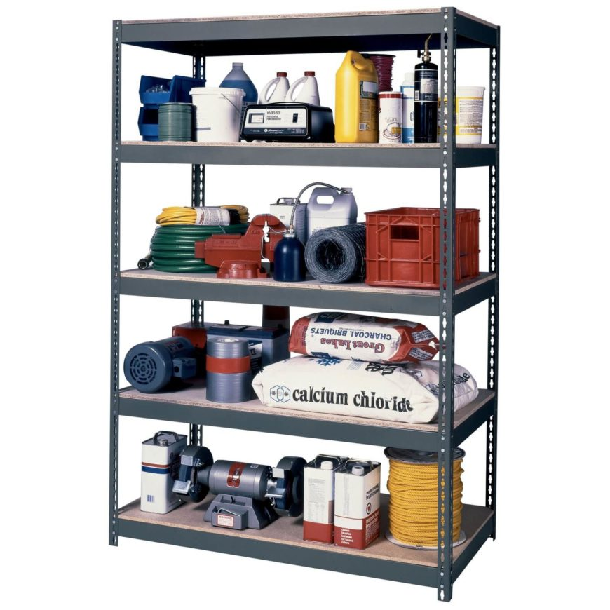 The open shelving and sturdy metallic design means you won't have to worry about closing doors if you try to fit a little too much onto a shelf.