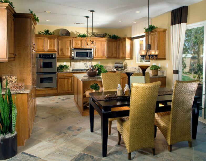 35 Captivating Kitchens With Dining Tables Pictures