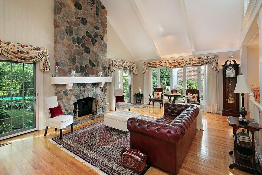 22 Sophisticated Living Rooms With Leather Furniture (DESIGNS)