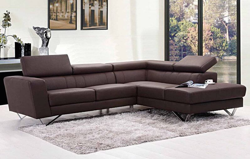 We love a sleek, modern sectional, and this one is no exception. The head cushions can be angled for utmost comfort, while the chaise lounge section adds a layer of relaxation that a standard sofa can't match.