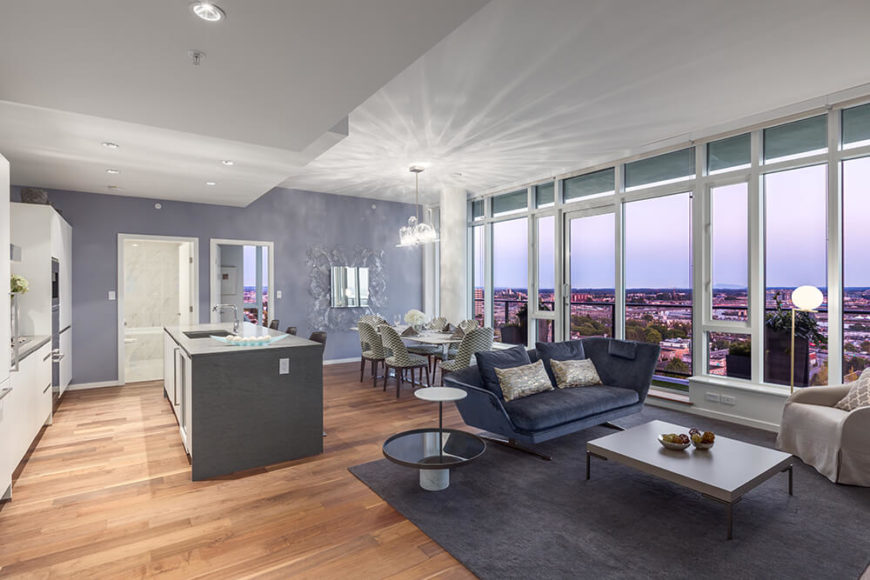 Elegant ultra-modern penthouse apartment.