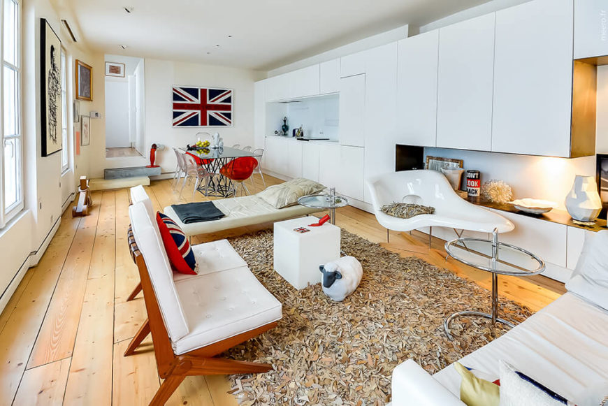 Modern open-plan interior makes the most of limited square footage.