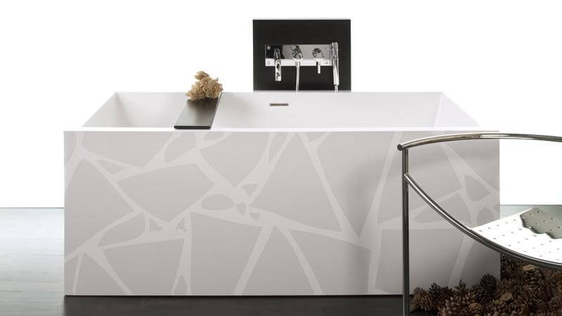 The second entry in the IMAGE-in motif series is the Earth tub, a tone-on-tone design that subtly draws the gaze of any who enter the bathroom, beckoning bathers to indulge in the luxurious bathing experience. The Earth Motif is available on the following models: BC01, BC02, BC03, BC04, BC0802, BC0803, BC10, BC11, and BC12.
