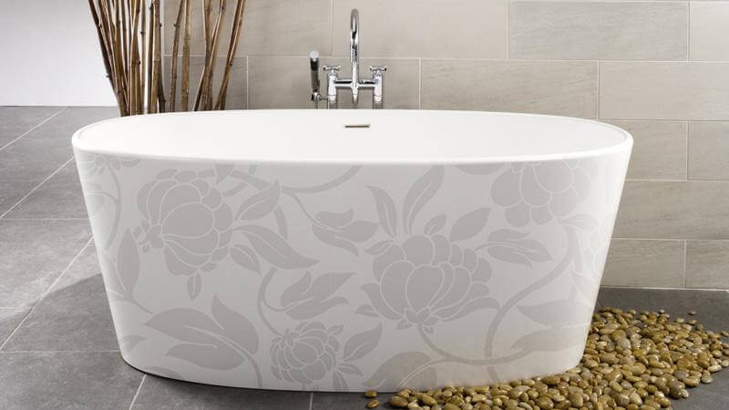 The third of the IMAGE-in motif series is the floral tub, which celebrates the creativity of nature in creating the thousands upon thousands of unique flowers in our world. This design is wholly elegant, perfect for a traditional or contemporary bathroom design. The Floral Motif is available on the following models: BBE02, BOV01-62, BOV01-66, and BOV02.