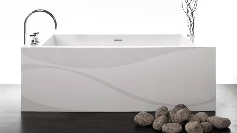 The fourth and final motif available from the IMAGE-in series is fitting for a luxury bathtub, inspired by the gentle waves of water and bringing to mind the soft sounds of waves lapping upon the shore. The graceful water design is available on the following models: BC01, BC02, BC03, BC04, BC0801, BC0802, BC0803, BC10, BC 11, and BC 12.