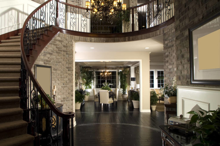 spectacular staircase in foyer
