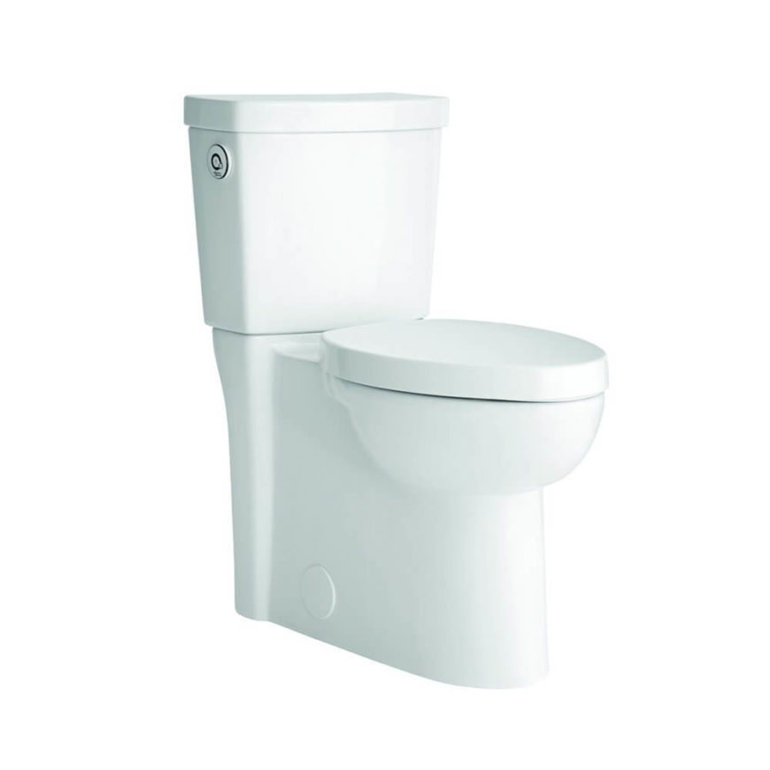 The great thing about this model, which is an all-in-one system with the hands-free tech built into the toilet, is that it camouflages its function. Resembling nothing so much as a standard, unassuming toilet, it works its magic seamlessly.