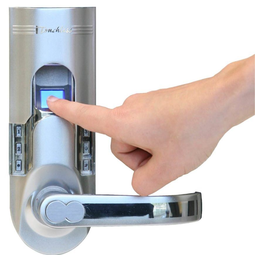 With a sliding cover to shelter the sensor, plus a backup key pad and extra key sets, this is the perfect solution for your home locks. It's as unobtrusive as can be, replacing a standard lock and handle on your front door, offering the ease of use of a single finger tap.