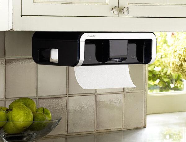 Touchless paper towel dispenser.