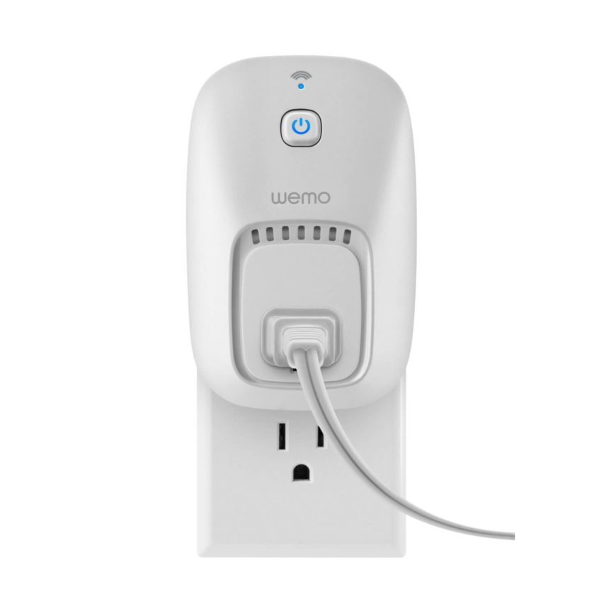 Similar to the light switch above, this unit is perfect for lamps and space heaters and anything else you'd want to activate remotely. It works with your existing Wi-Fi router and any Apple or Android smartphone or tablet to let you control your devices remotely by plugging them into this smart outlet.