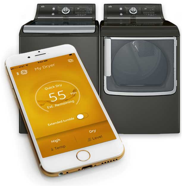 As with the other GE products on our list, you can control your wash load with a smartphone app that lets you monitor cycles, change settings, download custom cycles, and be alerted when clothes have been left inside. You can even extend the drying cycle to fluff and warm your clothes while away from home, our favorite feature.