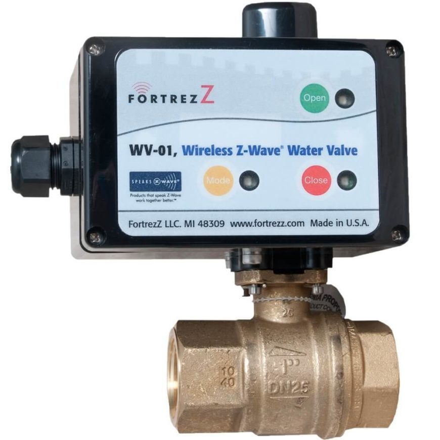 With this valve plumbed on your home's water main, you'll be able to control the water supply remotely through the Z-wave Home Automation system. This opens up a host of opportunities. When leaving home for vacation, you can have peace of mind knowing that nothing will go wrong with appliances. If an appliance leaks, for example, flood sensors can detect it, shutting off the water supply automatically to limit damage. In the meantime, you'll be notified by phone so that you can get right on the problem. It's a perfect solution for vacation homes, rental units, and even commercial buildings, and can be applied on dishwashers, water heaters, bathtubs, refrigerators, and more.