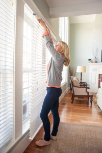 """Here's a peek at the built-in light sensor, which puts the """"smart"""" in these smart blinds. They're as easy to install as any standard blinds, and even easier to control with your smartphone or tablet."""