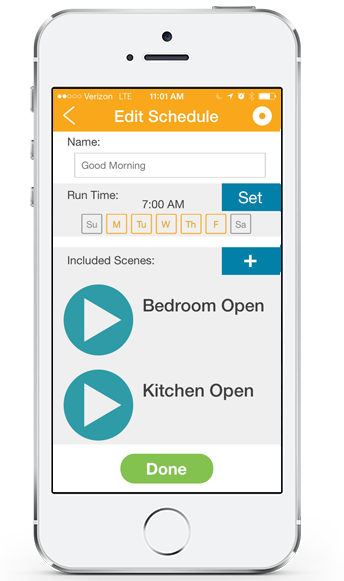 The MyLink lets you control every aspect of your windows, including coverings, awnings, screens, and rolling shutters, with a smartphone or tablet via an accompanying free app. You can schedule timed events and scenes to automate the process throughout the week, letting you effortlessly enjoy the benefits without a second thought. Windows can be grouped or individually controlled and each part, from blinds to awnings, will work in concert.