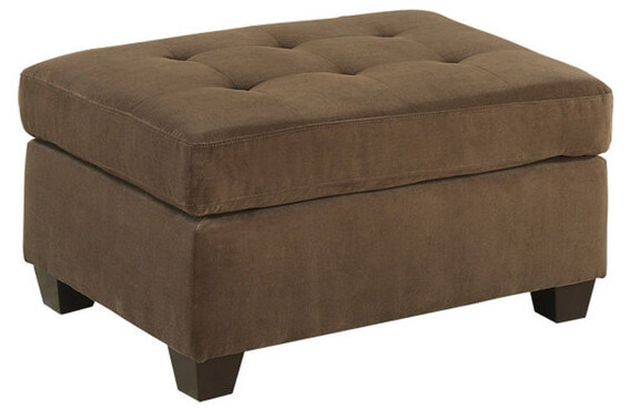 As the perfect addition to any seating arrangement, the Poundex Bobkona ottoman may also serve as extra seating. The piece comes in many different finishes and colors, so you can find the perfect accompaniment to your current design scheme.
