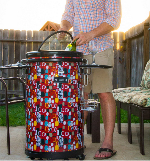 While it's pictured in an outdoor setting, we can't think of anywhere in the home that'd make a better home for this party cooler than your man cave. The bright colors and eye catching patterns make it stand out, as opposed to most coolers, which try to stay discreetly out of the way. The great thing about a man cave is that you can emphasize exactly what you like, including hosting friends for a good time. It's got external temperature control and some useful features for serving.