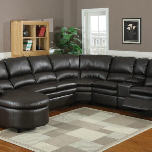 Man Cave Leather Sectional Sofa