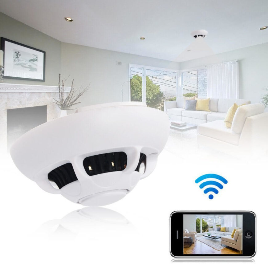 This truly innovative home smart camera is a lot more than it appears at first glance. Despite appearing just like a smoke detector, mounted on the ceiling, this wifi capable device is actually a stealthy security camera. The wireless functionality means that you can remotely view, via your smartphone or table, the direct video feed, get alerts when it detects motion while you're away from home, and check out any past recorded video. If you want to increase security without it showing, this is your best bet.