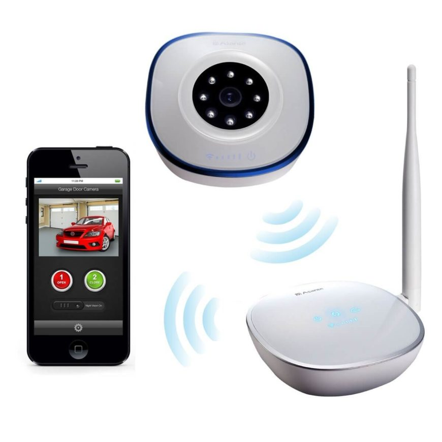 This uniquely comprehensive remote garage door opener kit includes a high quality camera for total control and monitoring. You'll be able to instantly view a live image of the garage on your smartphone, replete with infrared night vision for operation at any time. The device will instantly mail or text you with the status of your garage door so you'll always be aware of the security situation at home.