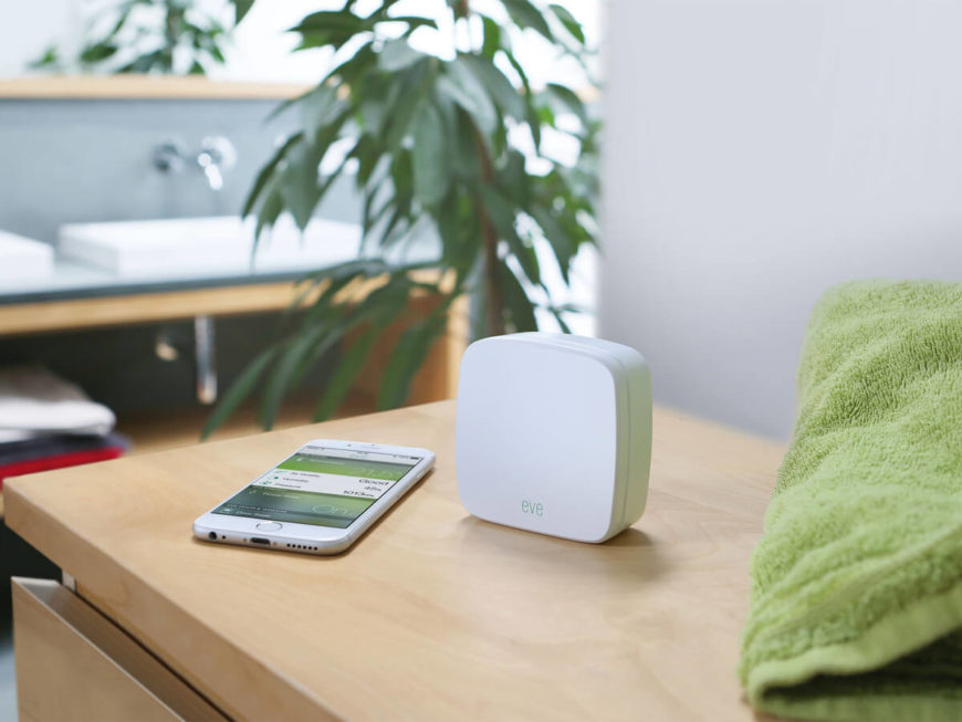 This elegant and attractive smart home sensor works with Apple HomeKit technology to talk with your entire smart home network. Its sensors analyze indoor air quality, temperature, and humidity, checking for volatile compounds. You'll be able to monitor the air quality in your home from your smartphone, reacting to any danger and setting your smart thermostat in response, if it's also hooked to the home network.