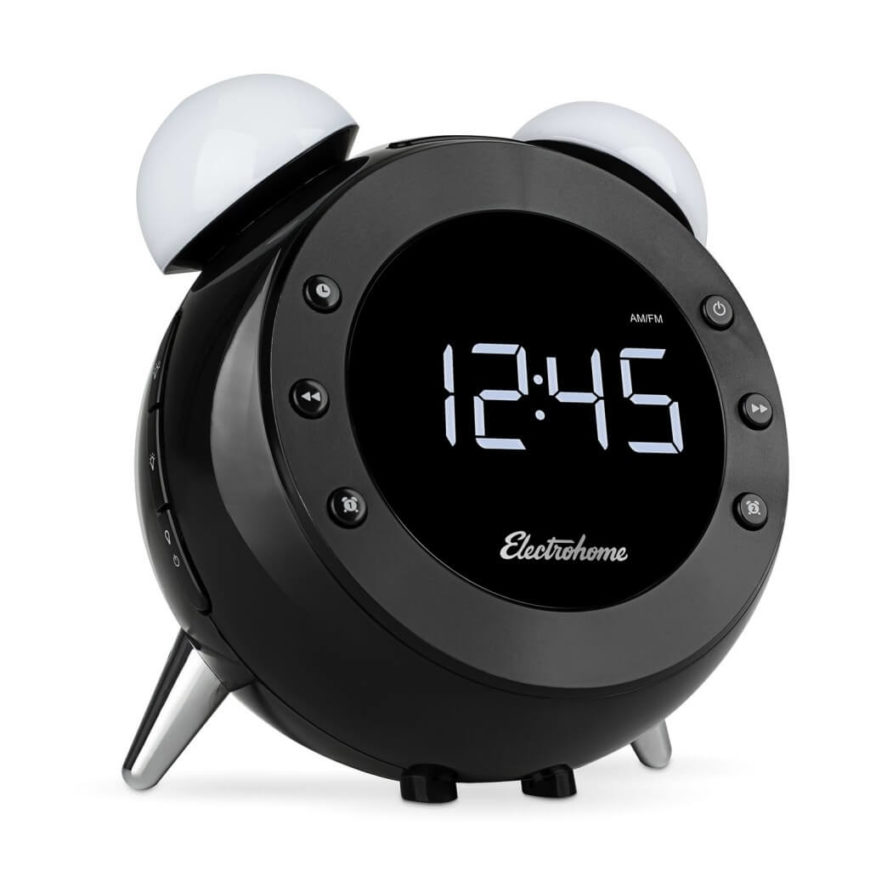 What at first appears to simply be a handsome, retro inspired alarm clock is actually a smart sensing device with motion activated night light and snooze, plus features like a digital radio, wake-up light, dual alarm, auto time setting, battery backup, and even temperature display. It can be set to gently ease you awake with increasing light as the alarm time approaches, letting you start every day fully energized and ready.