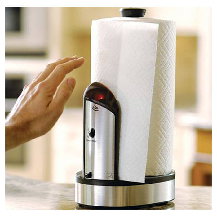 Here's another great touchless kitchen product that utilizes sensors to become a smart home essential. If you're washing hands, dishes, or anything else and need some paper towel for a quick clean up, you'll be able to obtain it without getting the whole roll wet. This is fantastic for anyone with kids or even spouses who like to tinker in the garage, keeping germs and dirt away and making your paper towel rolls last longer.