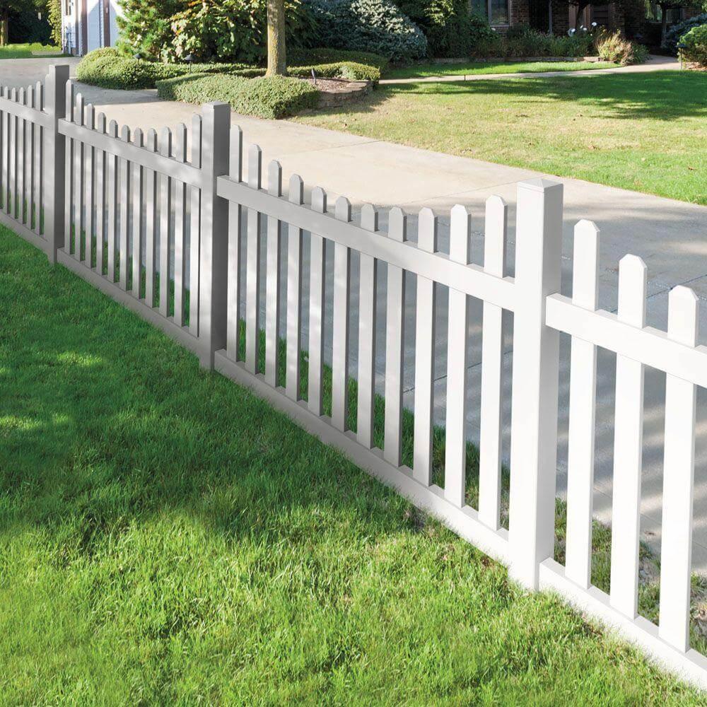 Dog Ear Vinyl Fence