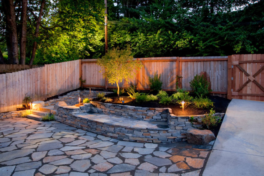 Sometimes a simple design is best to let your other landscaping be the star of the show.