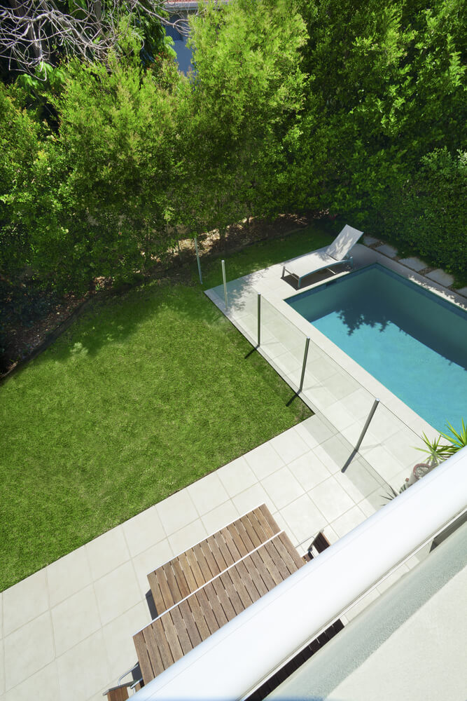 A glass pool fence can have minimal impact on the look of a yard. When a yard is not a large estate, this fence does not make the space look smaller.