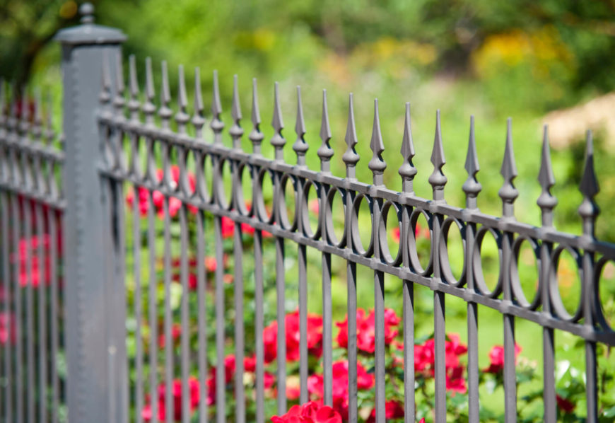 A nice fence design accentuates this garden.