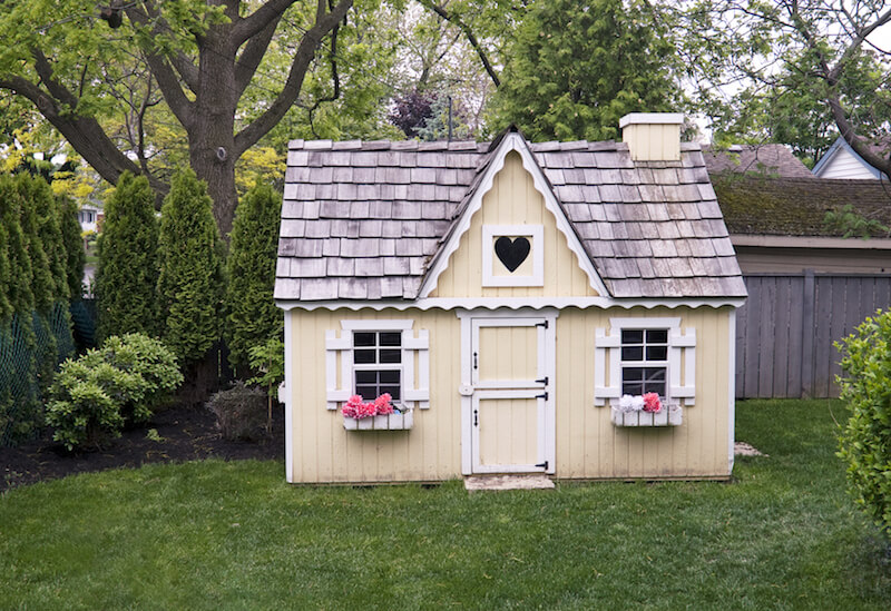 A more traditional cottage style play house that's perfect for imaginative play.