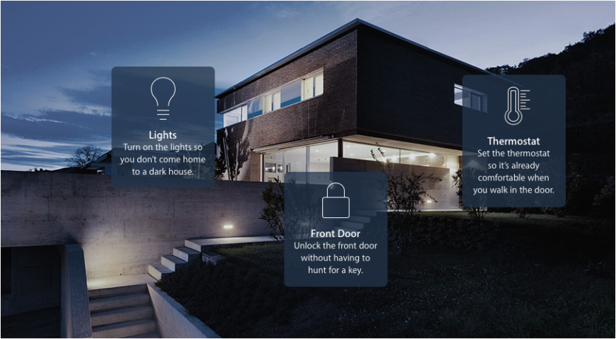 "It works by creating ""scenes"" to connect and control your smart home appliances in different combination. This means that simple one-touch interactions can perform a suite of functions in your home."
