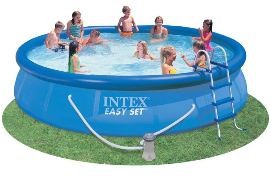 This is a very large version of an inflatable pool. This can fit an entire family and then some! It may take a bit to set up, but is a really amazing pool once you have it all ready to go.