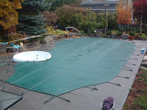 Security covers can be formed to fit pools of various sizes and shapes, even fitted around other features that your pool may have.