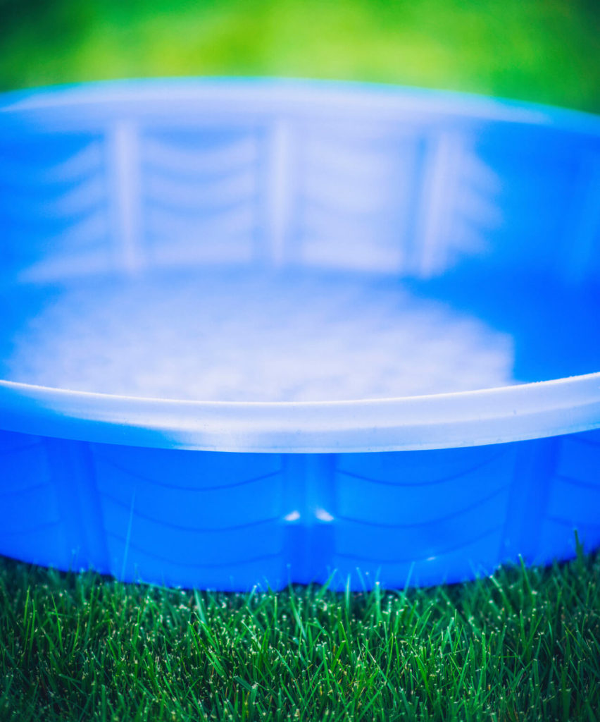 This is an example of a hard plastic kids pool. It is very simple and very basic. They are pretty basic, and the cheaper models do not very much in design or function.
