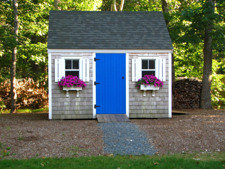 Add a pop of color for interest by painting doors or trim an eye-catching color.