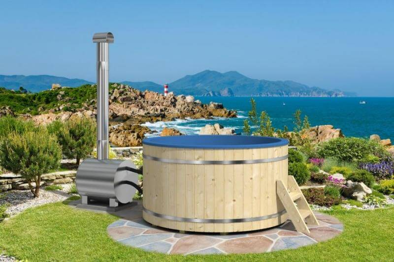 This personal hot tub has a tremendous view of the world. A garden around your hot tub is great for letting the atmosphere carry you away while the water melts away your stress.