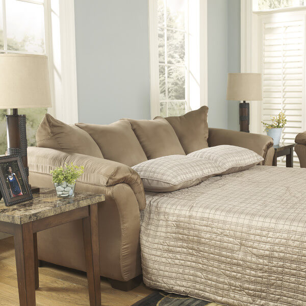 Some sofas have additional features such as a fold-out bed. This can transform your living room into a spare guest room when you need it. You never know when you are going to need an extra area for guests to stay.