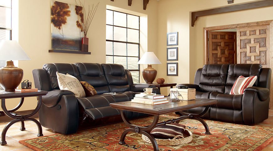 To create a cohesive and unified look to your room, having your furniture match can be a big step. Many sofas have loveseat counterparts that match very well, if not completely. An additional loveseat can be a great accompaniment to a sofa to give a few more seating options and keep the design consistent.