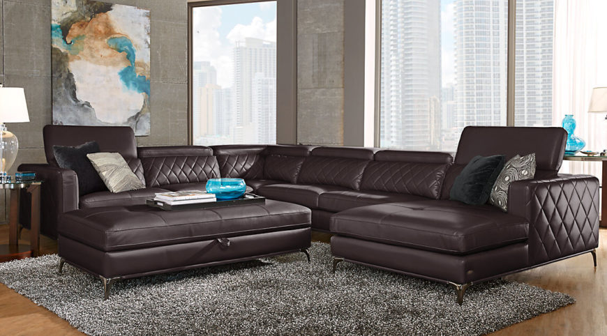 Many sectional sofas with an attached chaise lounge have only two sections. This sectional has two full sofa sections in addition to the chaise lounge. This maximizes the seating as well as allows someone to lay back and relax in comfort.