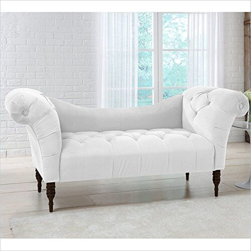 Contemporary White Chaise Lounge