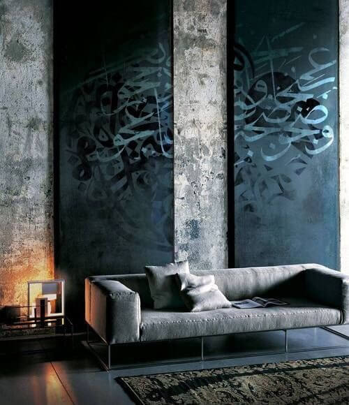 Concrete walls provide a clean and simple look that works perfectly for a modern design style.