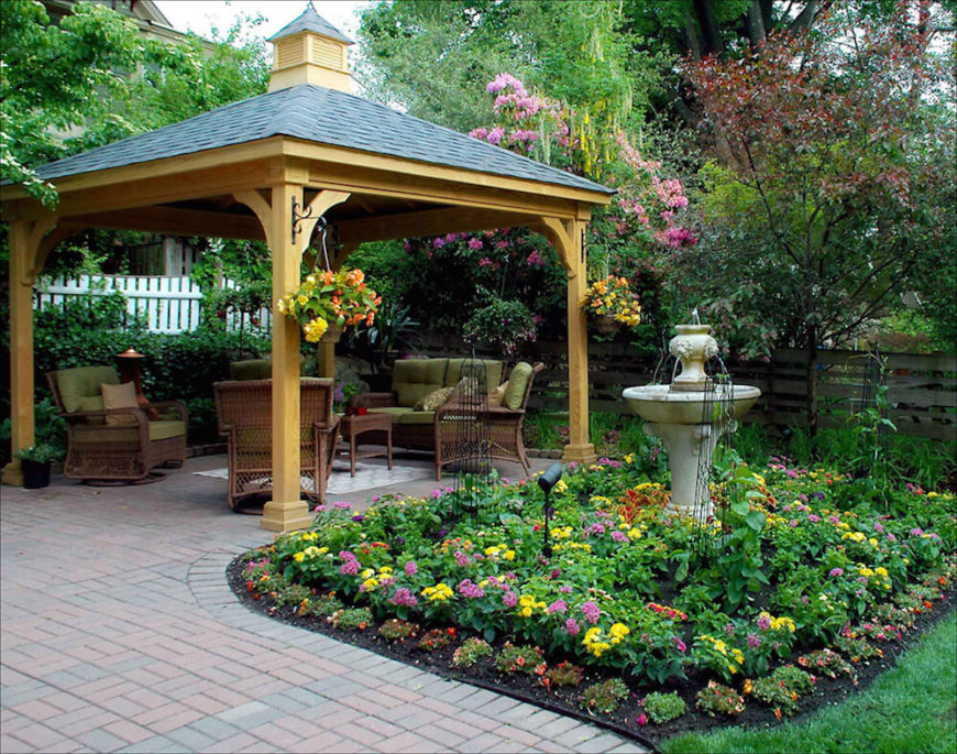This pavilion is a nice prefabricated pavilion that can be set up almost anywhere. It is larger so that you may not want to move it, but it can still be moved if necessary.