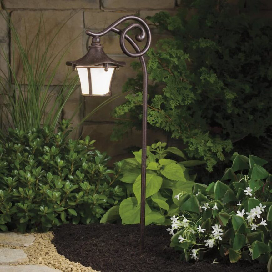 Here is another lantern that fits well in almost any garden. The lines on this lantern are all very natural and rounded, allowing it to fit in with the organic shapes of your plants.
