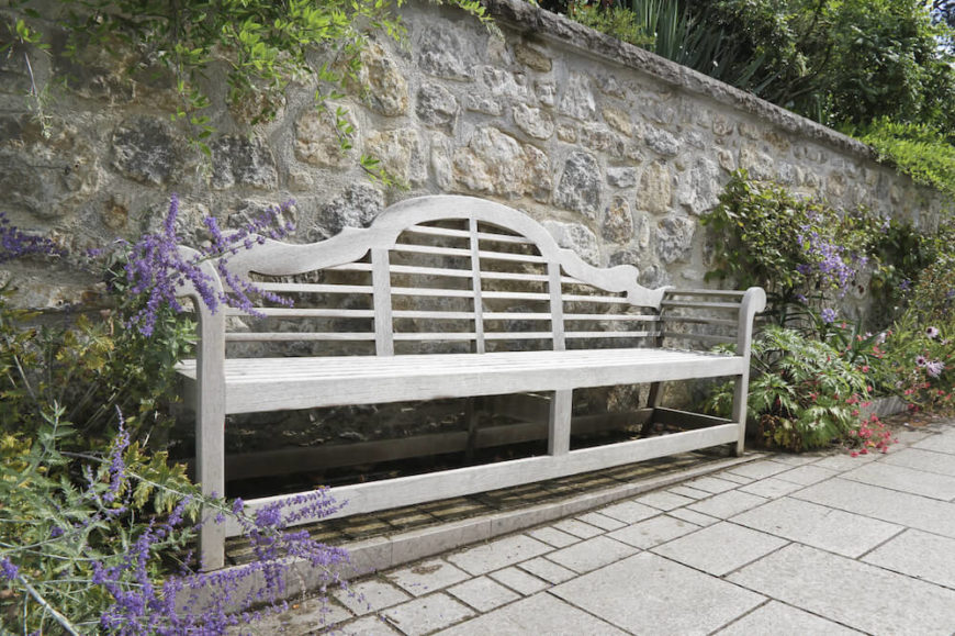 The great thing about wooden benches is that they can be painted to match any style. Wood holds finish and paint better than any other material. This makes it perfect for a customizable bench.