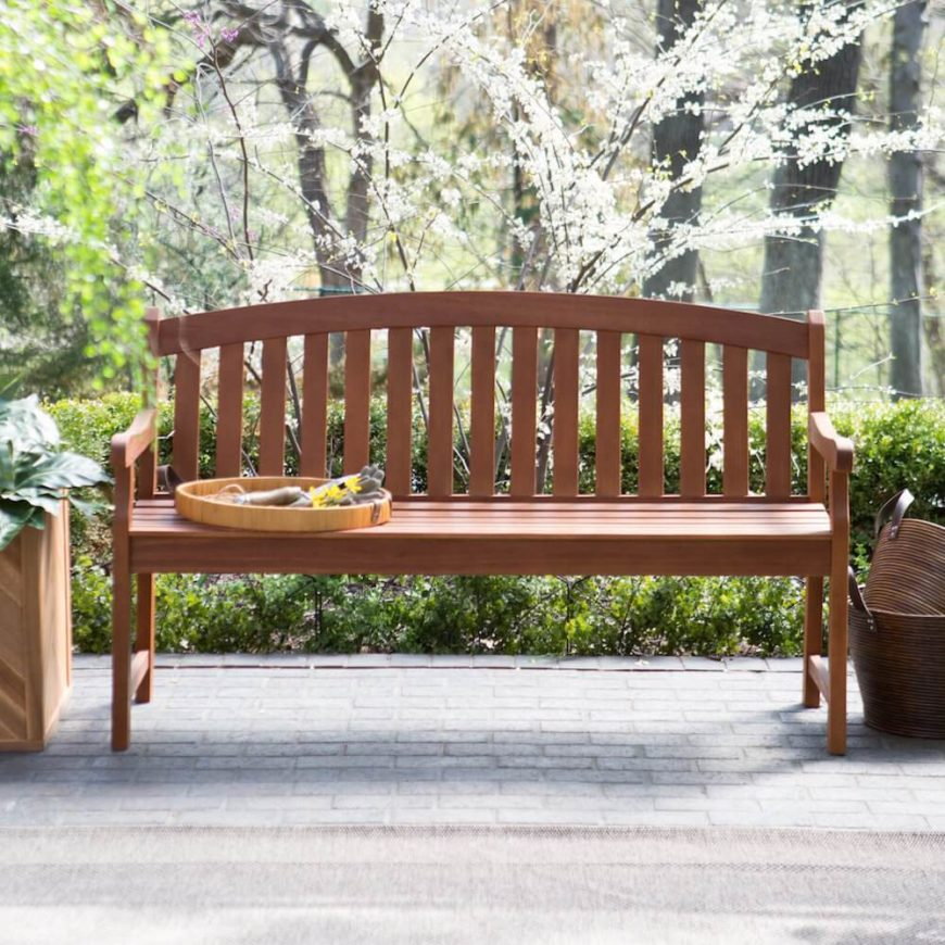 Classics are classics for a reason. This classic style bench is perfect for almost any patio or porch. It sits well in any yard and among any garden area.